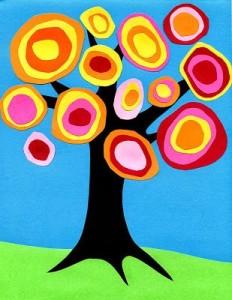 circle fall tree